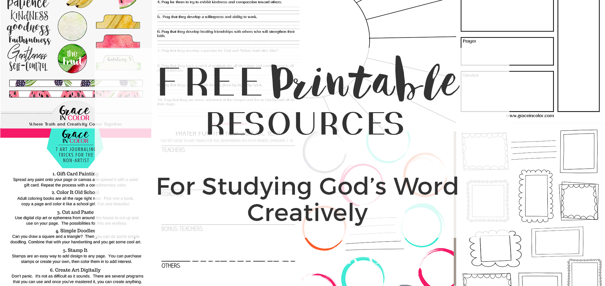 FREE RESOURCES FOR CREATIVE BIBLE STUDY
