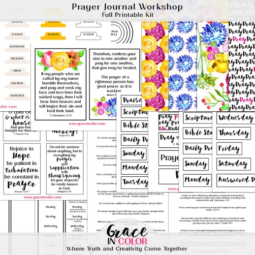 Prayer Journal Workshop Full Kit