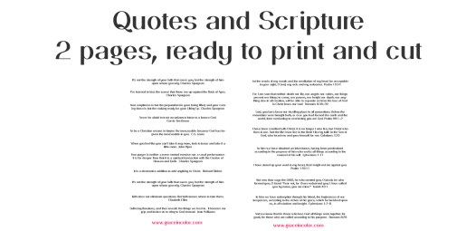 Free Prayer Journal Workshop scripture and quotes