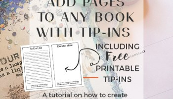 add pages to any book with tip ins