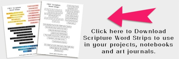 Free Scripture Word Art, Word Strips