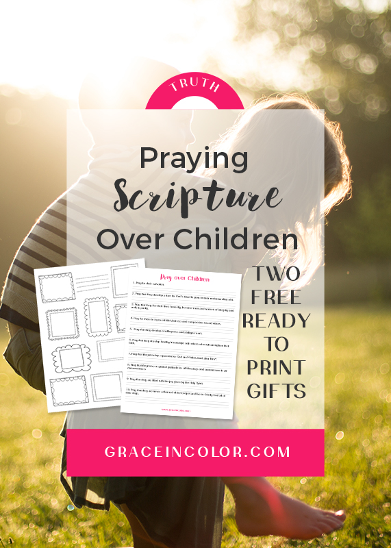 Pray over Children, free printables