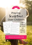 Praying Scripture Over Children