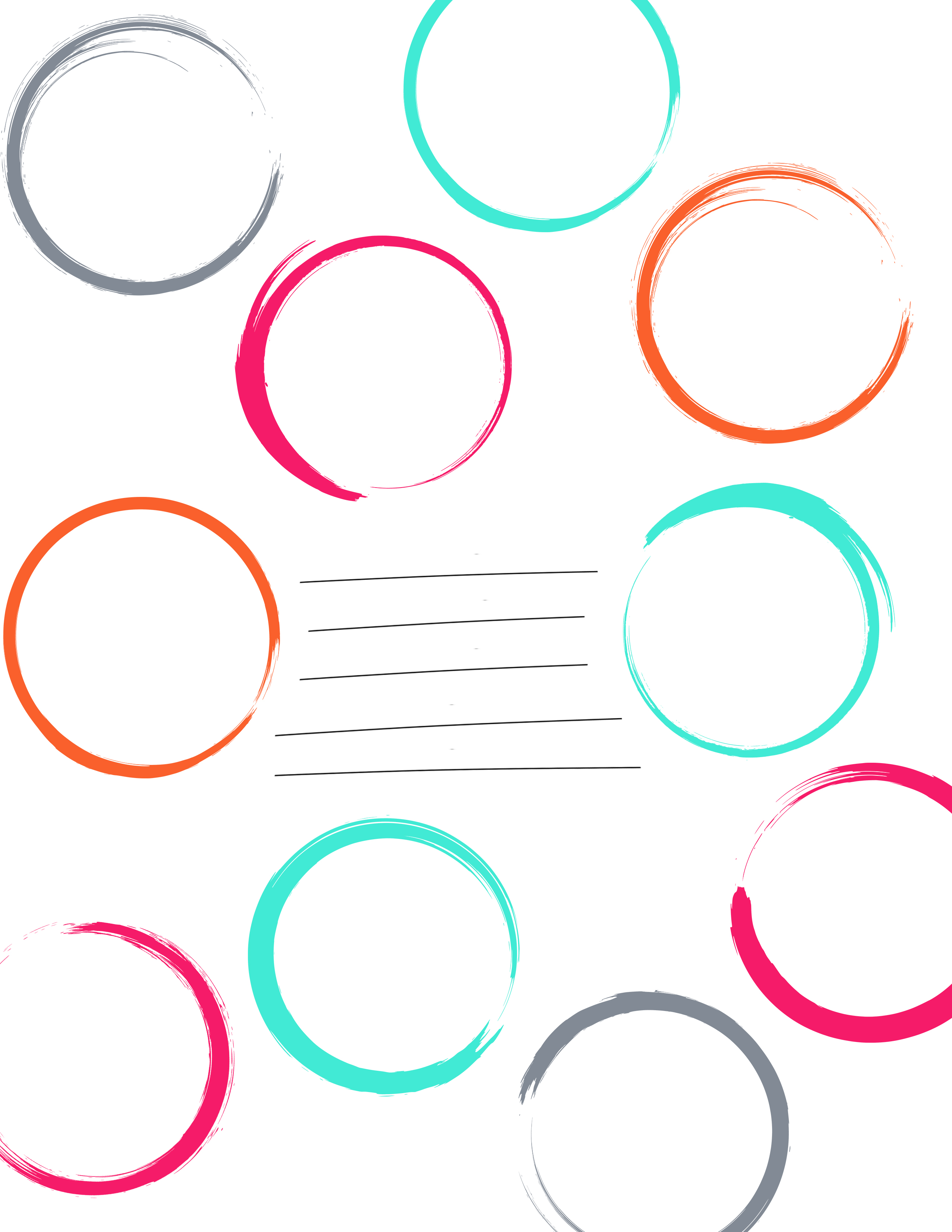 Free Colored Circle Frame Download