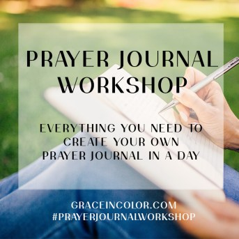 Prayer Journal Workshop from Grace in Color