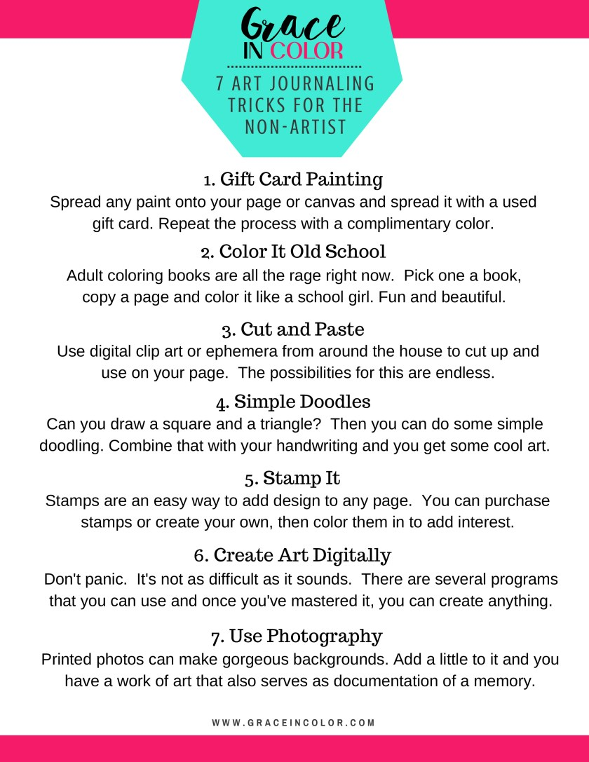 7 ways for the non-artist to Art Journal