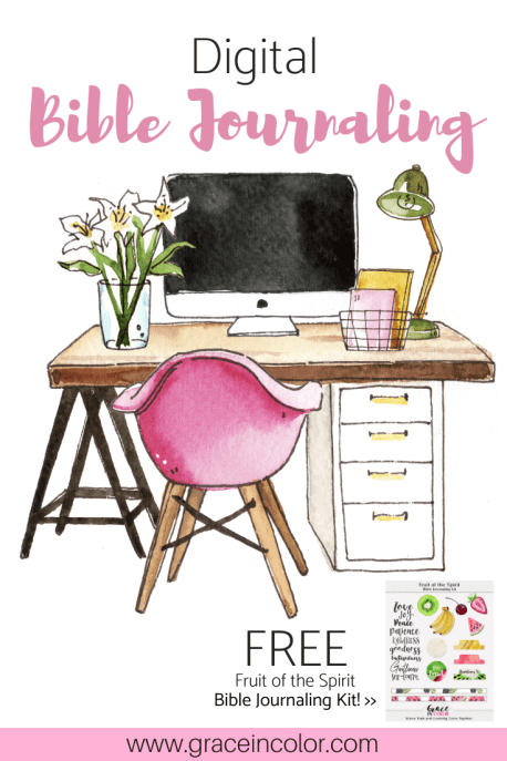 Digital Bible Journaling: Free Printable Kit by Grace in Color