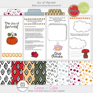 Joy of Harvest Bible Journaling Workbook and Kit by Grace in Color