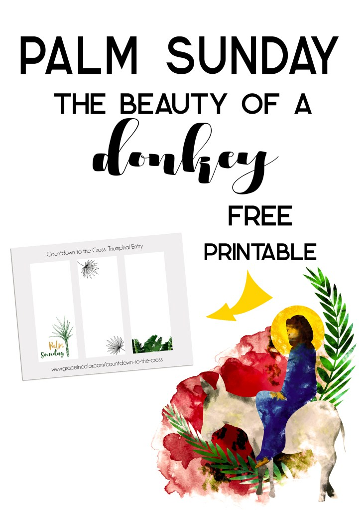 Palm Sunday: The beauty of a donkey | FREE PRINTABLE