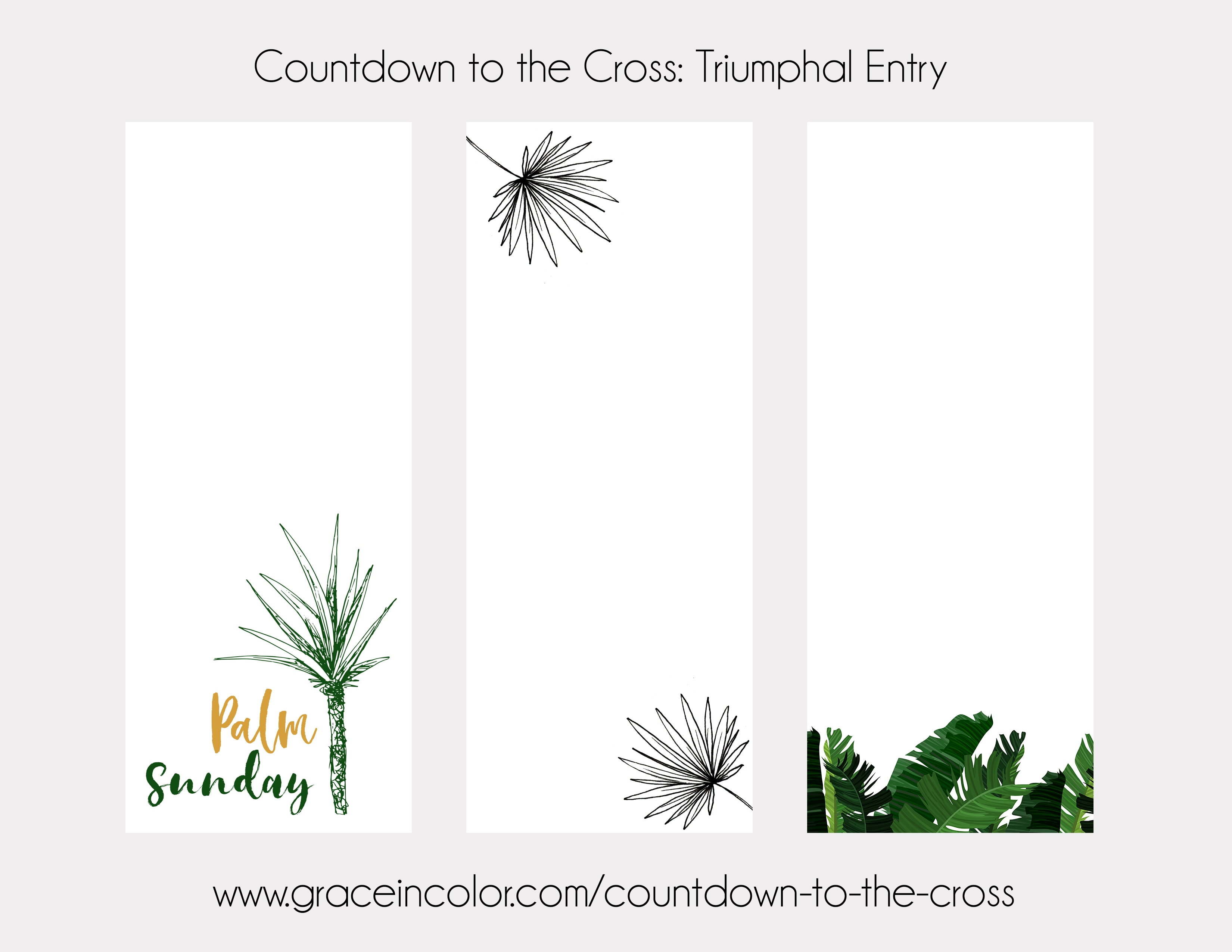 Free Palm Sunday Printable Cards | Tip-ins, Journal Cards, Bookmarks