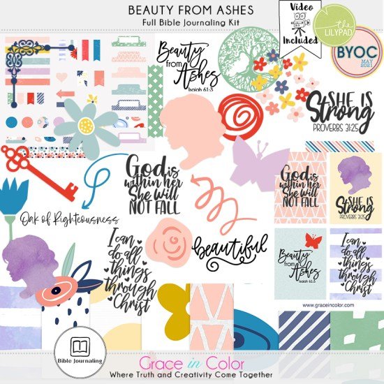 Beauty from Ashes Bible Journaling Kit