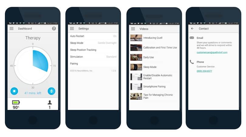 QUELL app screen shots