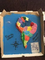 Emily\'s Salt Dough Map | Grace Like Rain Blog