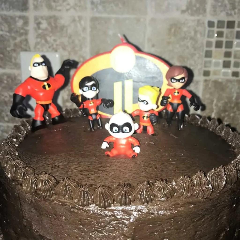 Incredibles 2 Cake Happy 8th Birthday Noah Grace Like Rain Blog