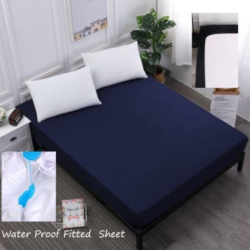 Navy-Blue-Water-Proof-Fitted-Sheet