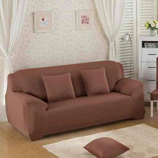 jersey fitted sofa cover light brown