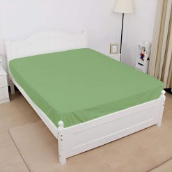 Jersey fitted sheet green