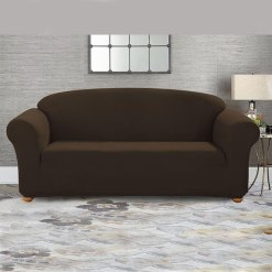 jersey sofa cover chocolate