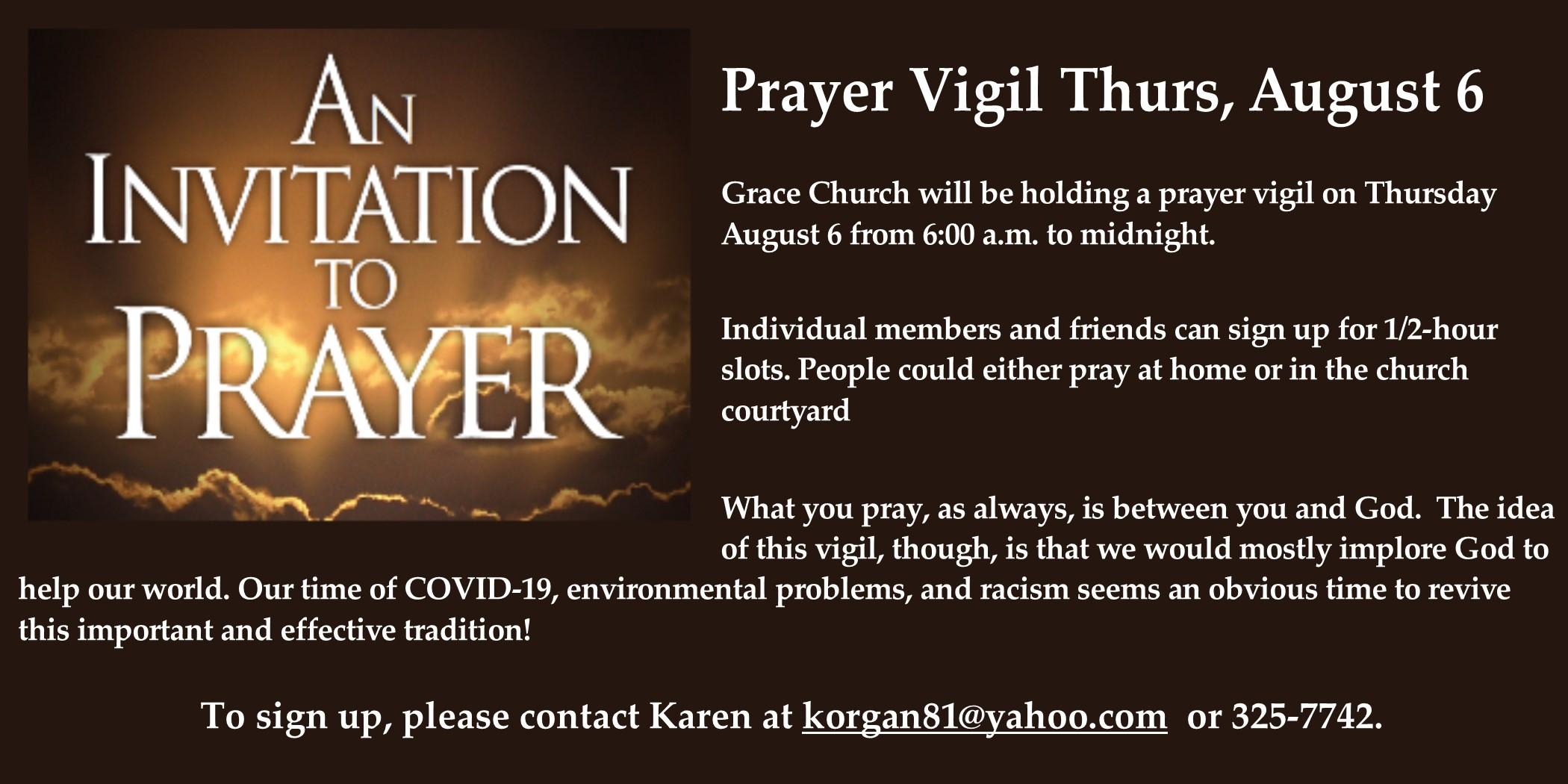 2020 8 Prayer Vigil