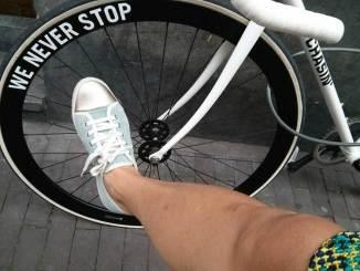 Bike-meets-shoe