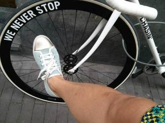 Bike-meets-shoe