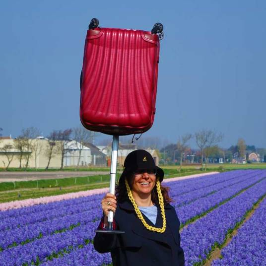 Samsonite the serious traveller Gracie Opulanza Holland tulips