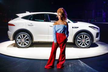 Singer-Raye-helps-Jaguar-launch-its'-new-E-PACE