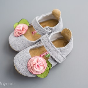 Gray and Pink Made in USA Baby and Toddler ShoesShoes