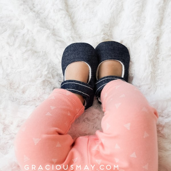 Denim Baby Shoes
