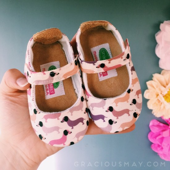 Gracious May Wiener Dachshund Puppy Dog Girls Shoes