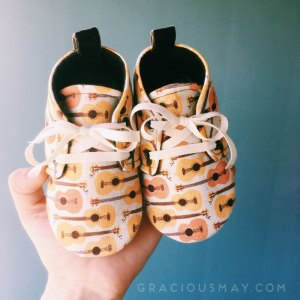 Toddler Boy Brown Guitar Shoes