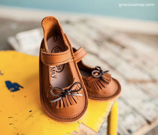 American Made in USA Leather Girls Shoes