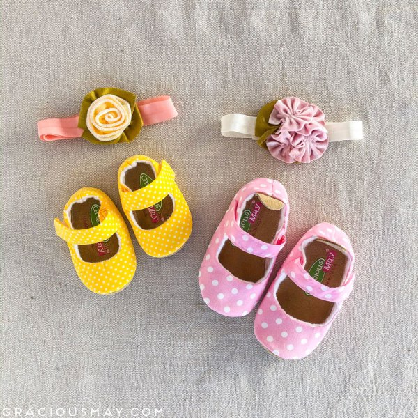 Unique Gifts for Baby Girls Booties and Matching Headband