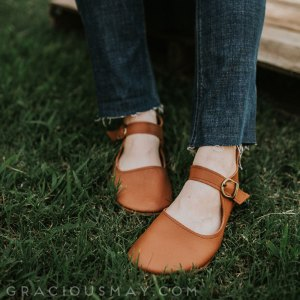 Barefoot Leather Mary Janes for Women