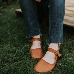 Barefoot Leather Mary Janes by Gracious May