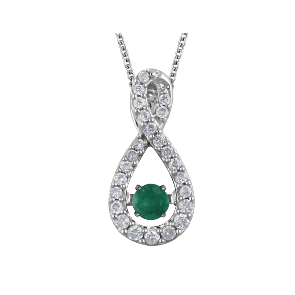 Emerald Diamond Moving Necklace