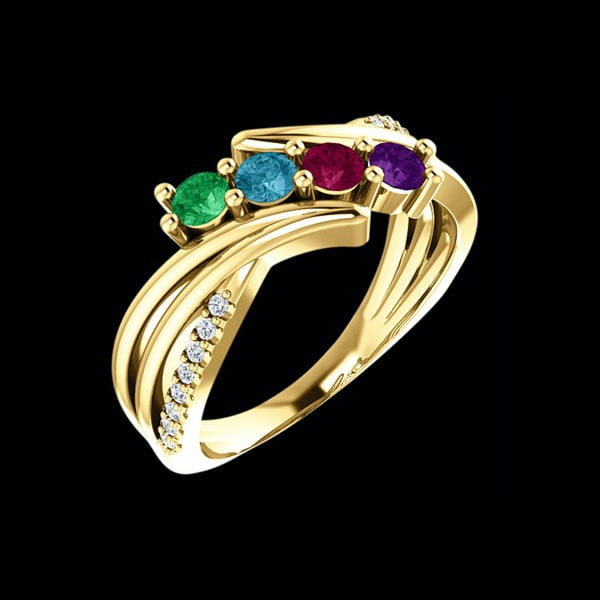 Gabriela 14k Gold Mothers Ring