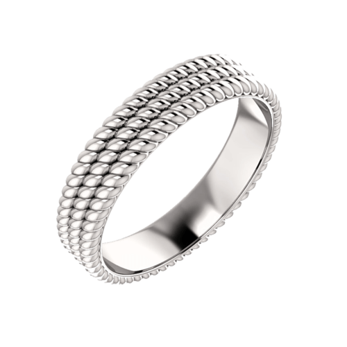 Gold Triple Rope Wedding Band
