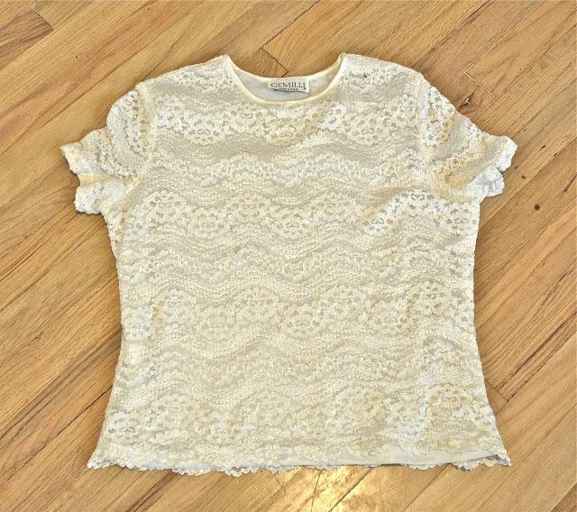 стара блуза - нова пола