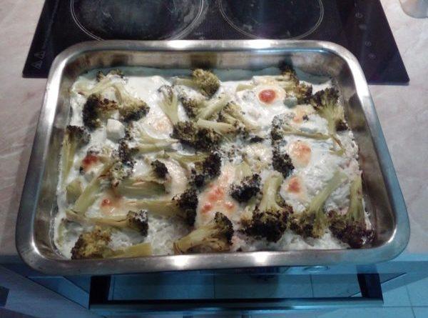 рецепта за запеканка с пилешко и броколи
