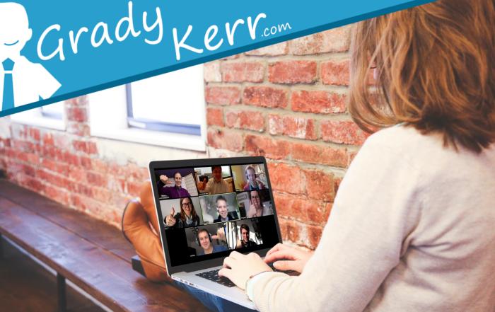 Virtual Youth Activities - GradyKerr.com - Teen Laptop Zoom Meeting