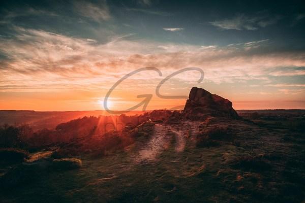 Ashover Rock Sunset