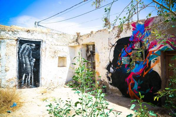 Phlegm (UK) (left) / Stinkfish (Colombia) (right), Djerba 2014