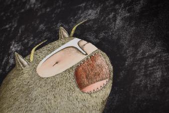 Bisser Werewolf print close-up