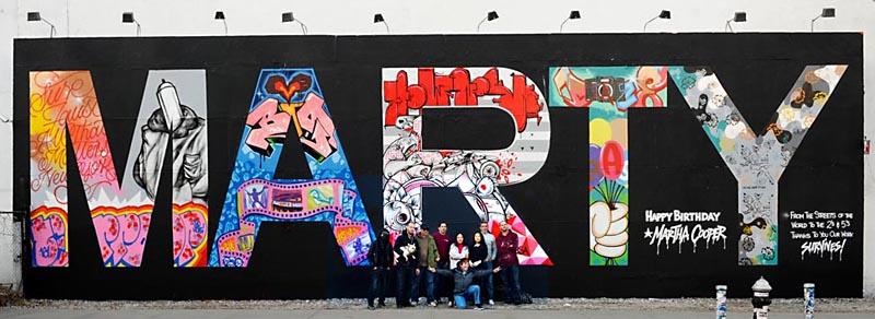 Martha Cooper 70th Birthday tribute at Houston Wall 2013.