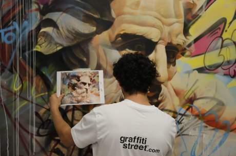 Pichiavo 'Escritor de Mares' commission - Photo by GraffitiStreet.com