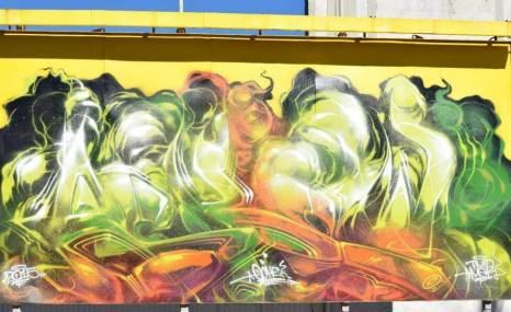 Askew. Photo © Benalla street art wall to wall