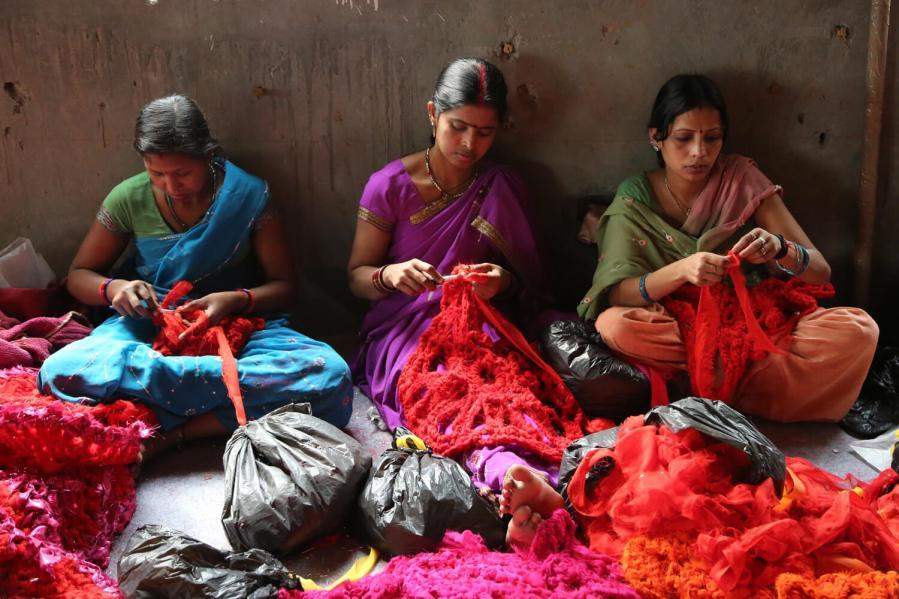 Olek Crochet Installation. Photo by Pranav Mehta