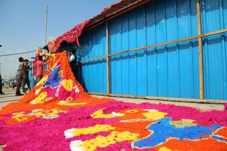 Olek Crochet Installation. Photo by Pranav Mehta