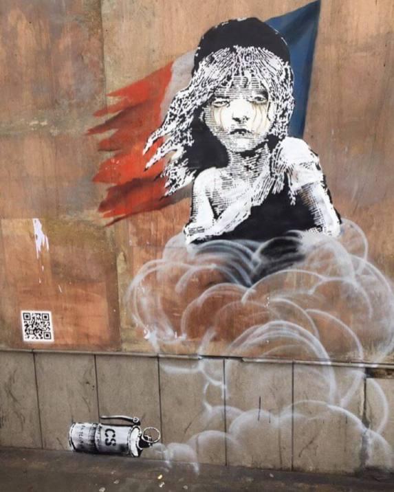 Banksy - Les Miserables (French Embassy London) Street Art